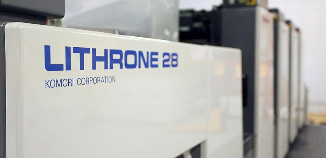 Komori Lithrone 28 printing press